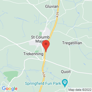 Clay Pigeon Shooting St Columb, Cornwall Location Map