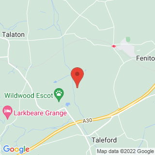 Laser Clays Exeter Location Map