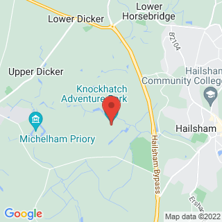 Off Road Karting Hailsham, East Sussex Location Map