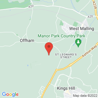 Off Road Karting West Malling, Kent Location Map