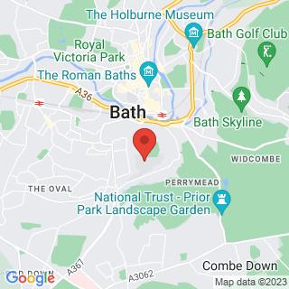Bubble Football Bath Location Map