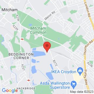 Karting Croydon, Surrey Location Map