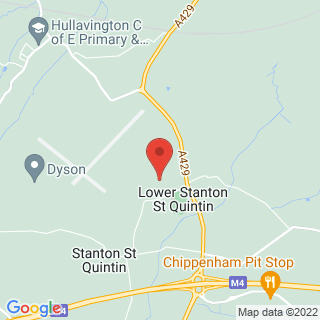 Karting Hullavington, Wiltshire Location Map