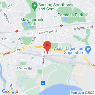 Karting Dagenham, Greater London Location Map