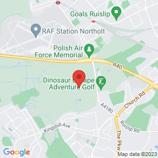 Quad Biking Northolt, West London Location Map
