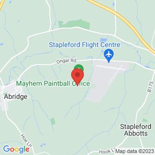 Combat Archery Abridge, Essex Location Map