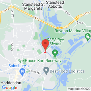 Karting Hoddesdon, Hertfordshire Location Map
