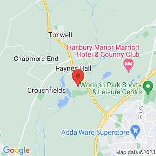Air Rifle Ranges Ware, Hertfordshire Location Map