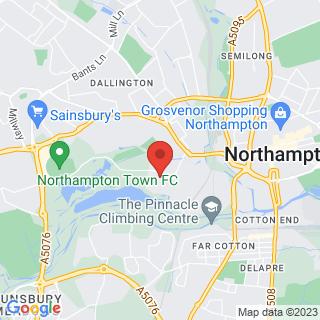 Karting Northampton, Northamptonshire Location Map
