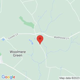 Laser Clays Hanbury Location Map