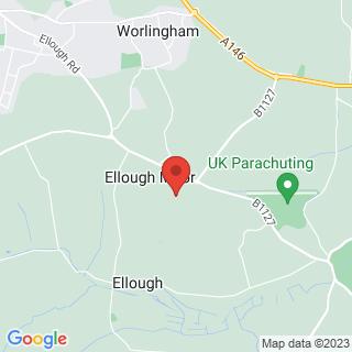 Karting Ellough, Suffolk Location Map