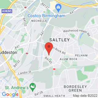 Off Road Karting Saltley, Birmingham Location Map