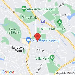 Bubble Football Birmingham Location Map