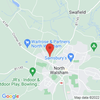 Clay Pigeon Shooting North Walsham Location Map