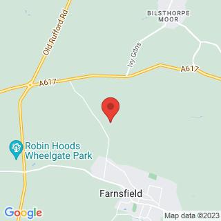 Clay Pigeon Shooting Newark, Nottinghamshire Location Map
