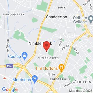 Indoor Paintball Oldham Indoor Location Map