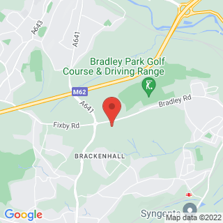 Bubble Football Huddersfield, West Yorkshire Location Map