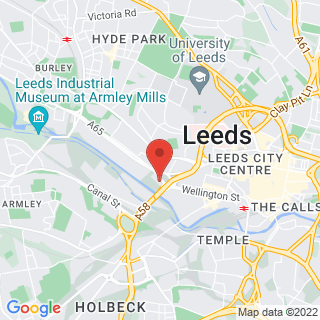 Bubble Football Leeds - Central Location Map