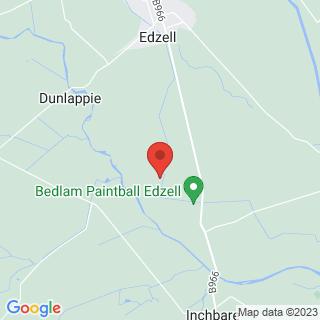 Paintball Aberdeen - Edzell Location Map