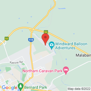 Hot Air Ballooning Northam, WA Location Map