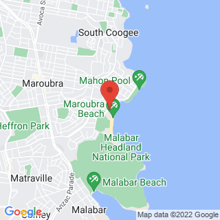 Surfing Let's Go Surfing Maroubra Location Map
