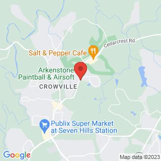 Paintball Acworth, GA Location Map
