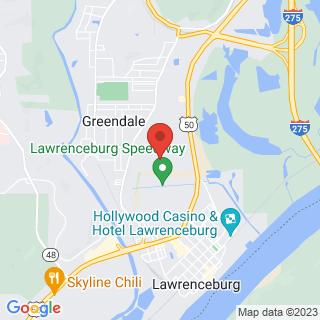 Karting Lawrenceburg, IN, Indoor Karting Location Map