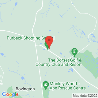 Clay Pigeon Shooting Wareham, Dorset Location Map