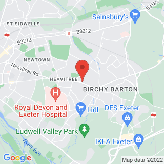Bubble Football Exeter, Heavitree Location Map
