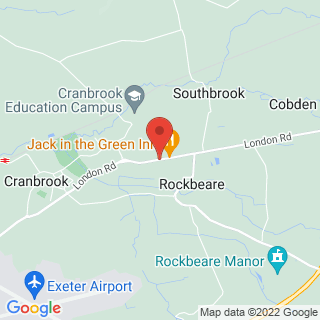 Hot Air Ballooning Exeter Location Map