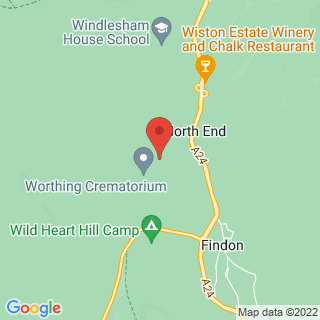 Clay Pigeon Shooting Findon, West Sussex Location Map
