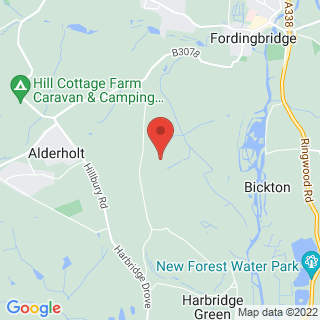 Archery Fordingbridge, Hampshire Location Map