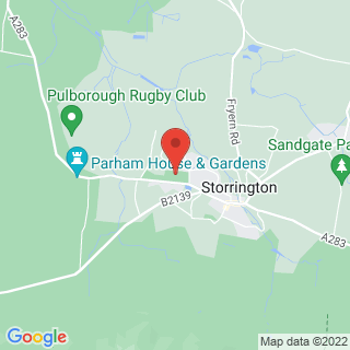 Combat Archery Pulborough, West Sussex Location Map