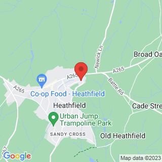 Paintball Heathfield Location Map