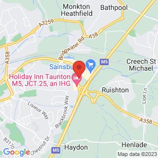 Hot Air Ballooning Taunton, Somerset Location Map