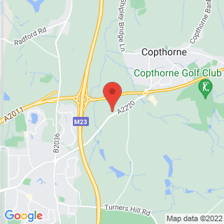 Paintball Copthorne Location Map