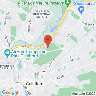 Bubble Football Guildford Location Map
