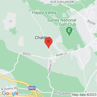 Clay Shooting Merstham - Chaldon Village Location Map