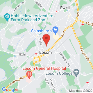 Bubble Football Epsom Location Map