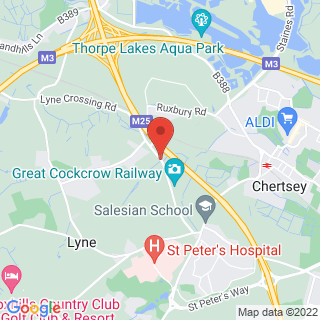 Survival Skills Chertsey, Surrey Location Map