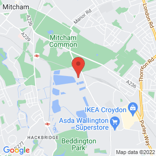 Karting Croydon, Surrey Location Map