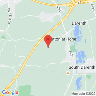 Clay Pigeon Shooting Sutton At Hone, Kent Location Map