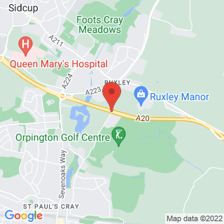 Paintball Sidcup Location Map