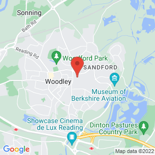 Karting Woodley, Nr Reading Location Map