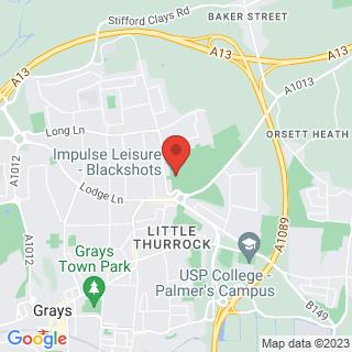 Scuba Diving Grays, Essex  Location Map