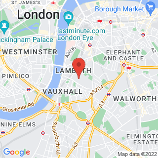 Bubble Football Vauxhall, London Location Map