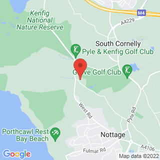 White Water Rafting Porthcawl, Mid Glamorgan Location Map