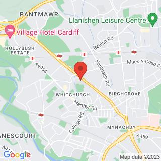 Bubble Football Cardiff Location Map
