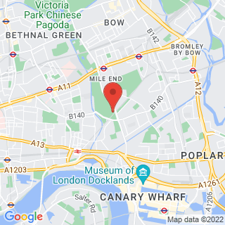 Karting Mile End, London Location Map