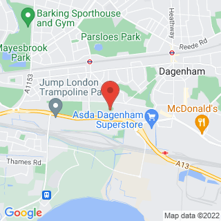 Bubble Football Dagenham Location Map